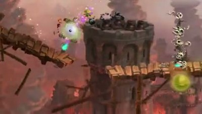 "Rayman legends ""Castle Rock Gameplay Footage Trailer"""