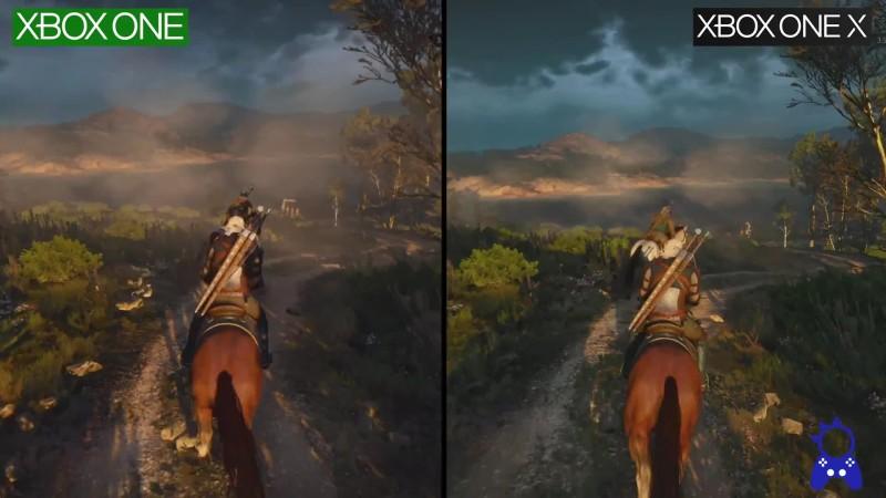 Сравнение графики - The Witcher III | ONE vs ONE X | 1080P (ElAnalistaDeBits)