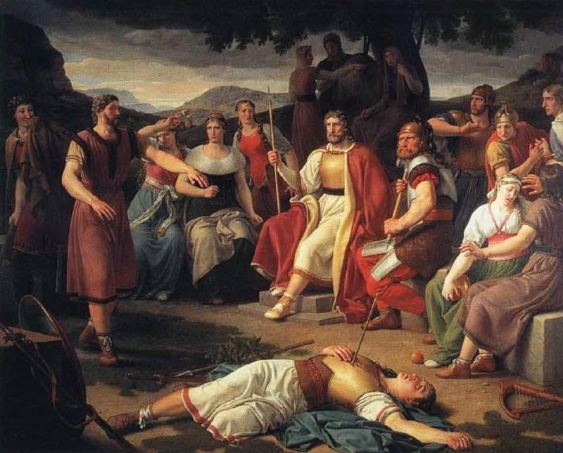 Кристофер Вильгельм Эккерсберг, «Смерть Бальдра», 1817