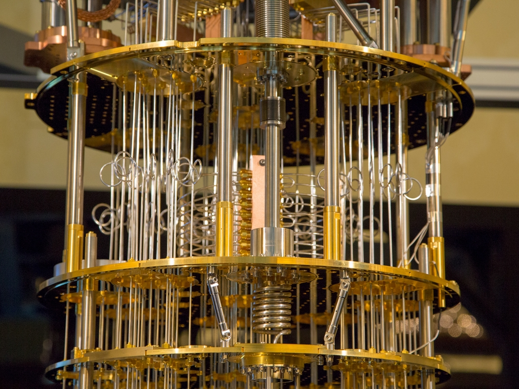 квантовый компьютер фото синего менялся протяжении
