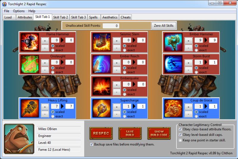 """Torchlight 2 """"Rapid Respec Version: 2.04"""""""
