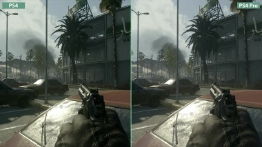 Call of Duty Modern Warfare Remastered Сравнение графики на PS4 vs. PS4 Pro (Candyland)