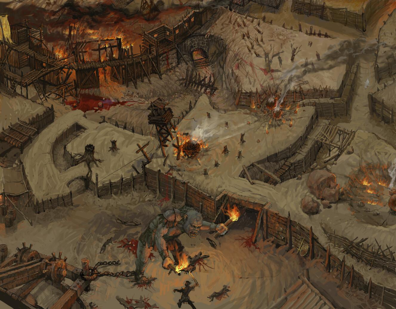 В сети появилось несколько новых скриншотов и концепт-артов первой версии Diablo 3
