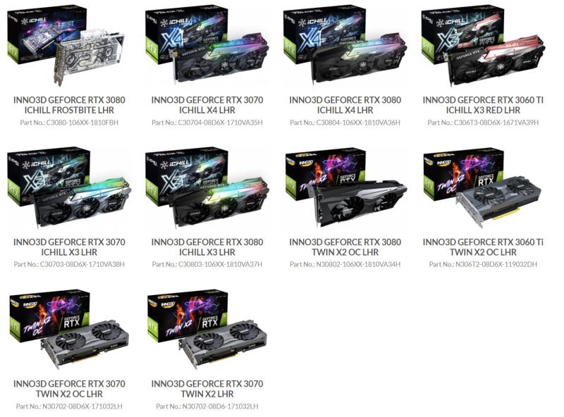 Inno3D объявляет войну майнерам - линейка GeForce RTX 3000 получит встроенную защиту