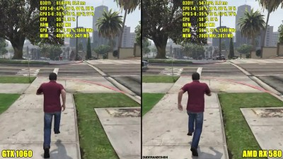 GTA 5 AMD RX 580 Vs GTX 1060 1080p Сравнение