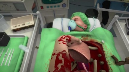 "Surgeon Simulator ""Трейоер анонса на PS4 