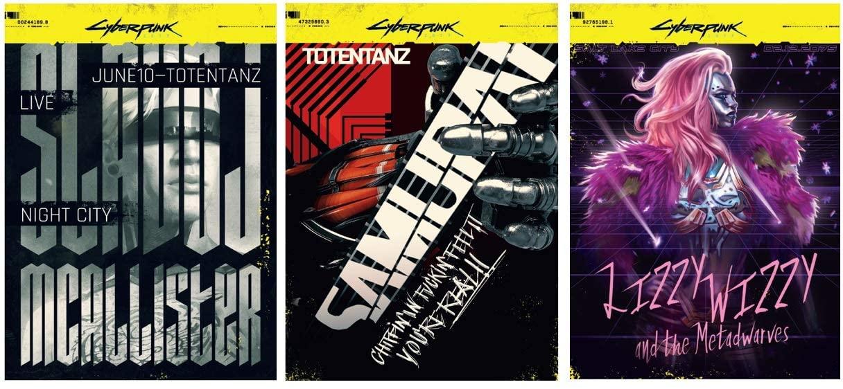 Бонусные постеры Cyberpunk 2077