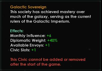 Император получит новую уникальную гражданскую модель, не требующую пустой ячейки.
