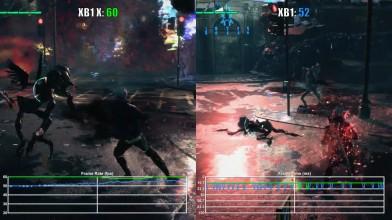 Сравнение графики Devil May Cry 5 на Xbox One и Xbox One X (демо)