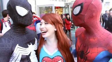 Spider-Man: Spider-Verse Flash Mob Prank - пародия