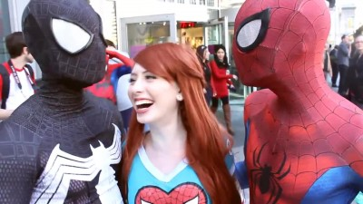 Spider-Man: Spider-Verse Flash Mob Prank - пародия