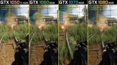 Crysis 3 - GTX 1050 Ti vs. GTX 1060 vs. GTX 1070 vs. GTX 1080