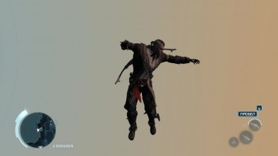 Глюк в игре Assassin's Creed 3. конор танцует в воздухе