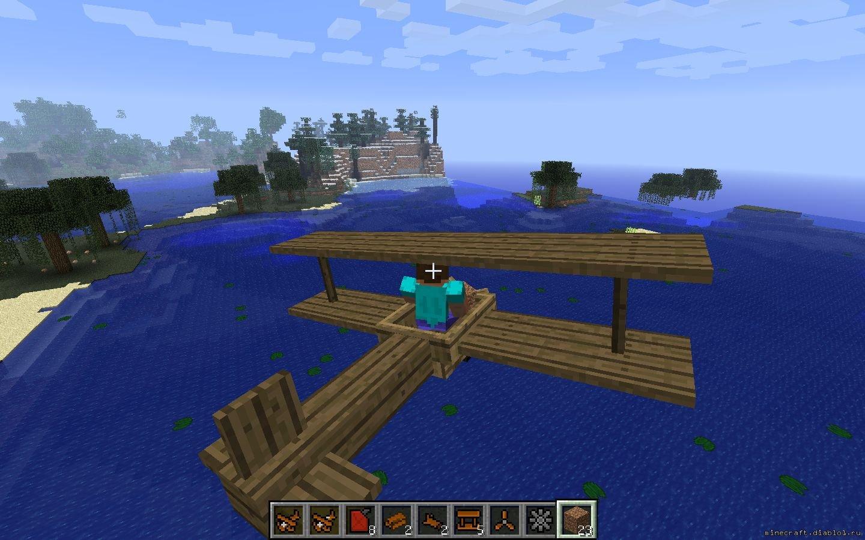 Minecraft как сделать самолёт фото 16