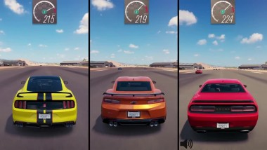 БИТВА Muscle Car ! | Forza Horizon 3 | Shelby GT350R vs Camaro ZL1 vs Challenger Hellcat