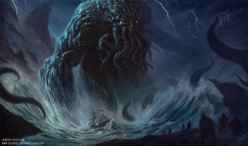 Cthulhu Oil Painting