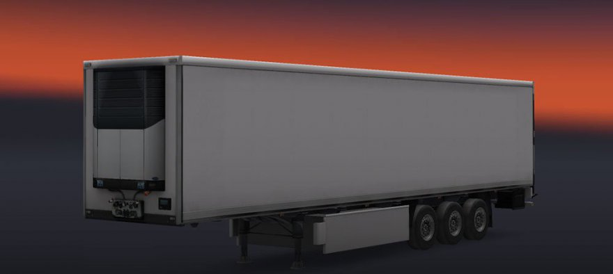 белый прицеп для euro truck simulator 2