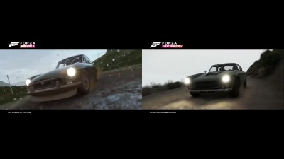 Воссозданный в GTA 5 трейлер Forza Horizon 4 (Side-by-side сравнение)