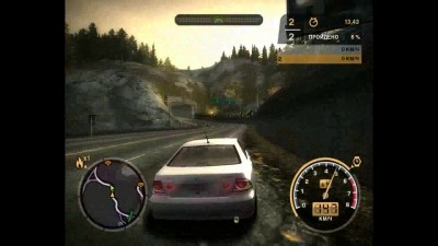 "Need for Speed: Most Wanted (2005) ""прохождение. босс N9 (1 гонка) на стоковой машине"""