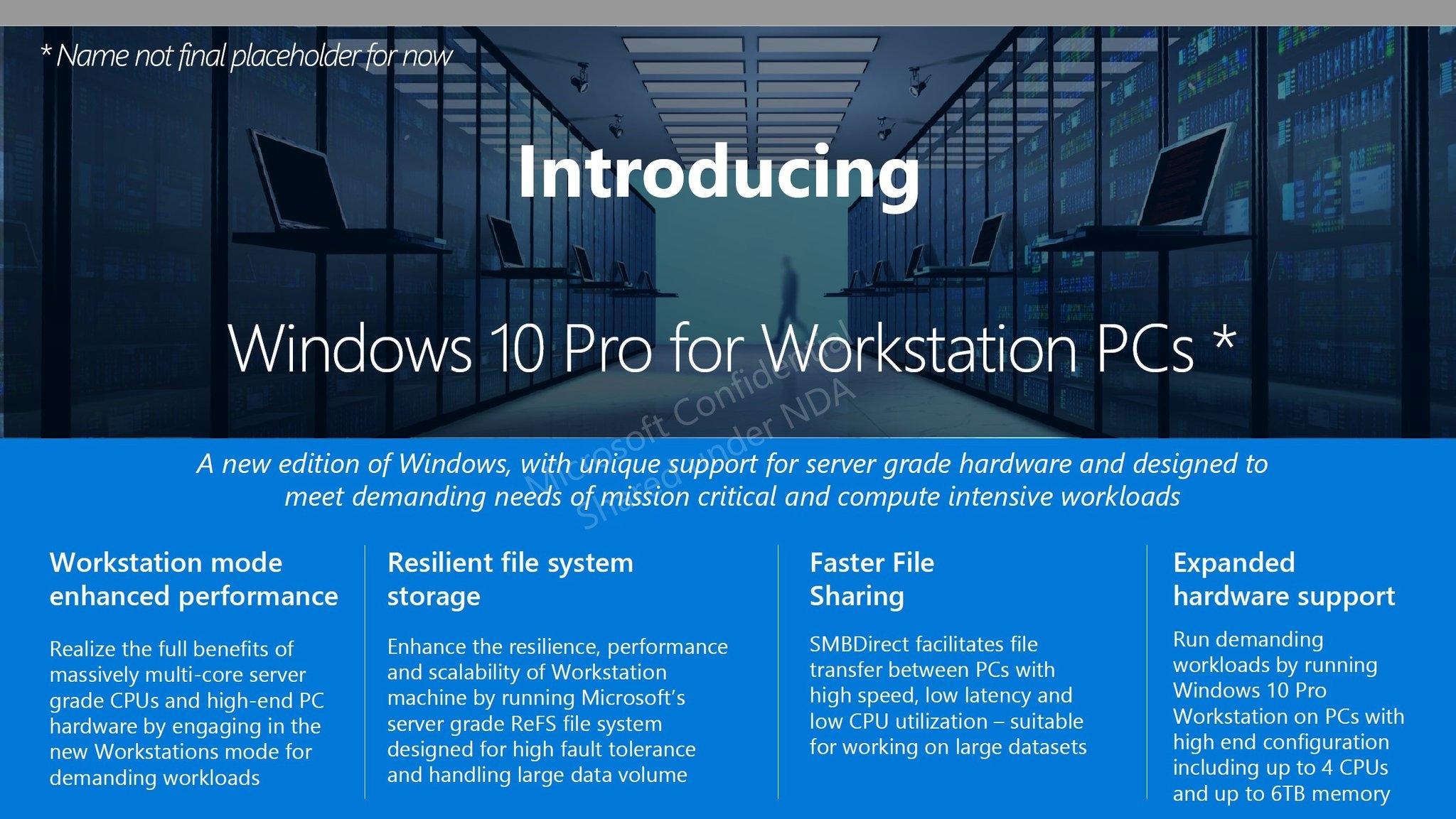 Компания Microsoft анонсировала выпуск 3-х модификаций Windows 10