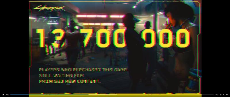 13 700 000 игроков, купивших игру, до сих пор ждут обещанного нового контента.