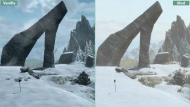 Skyrim Special Edition - 4K UHD Visual Mod Overhaul vs. Vanilla Graphics Comparison
