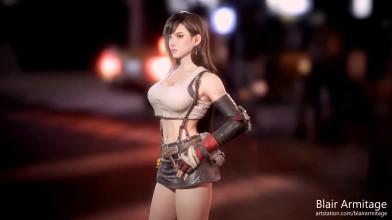 Невероятно детализированная 3D-модель Тифы Локхарт из Final Fantasy VII