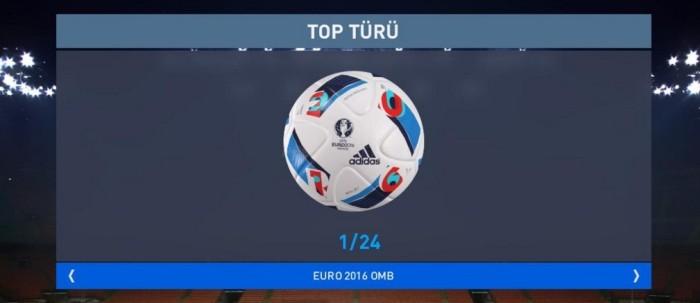 Официальный мяч ЕВРО 2016 в Pro Evolution Soccer 2016