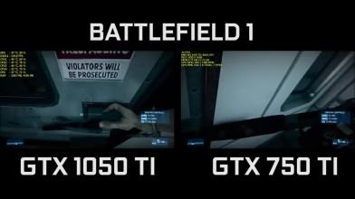 GTX 1050 TI Vs GTX 750 TI BATTLEFIELD 3 1080p