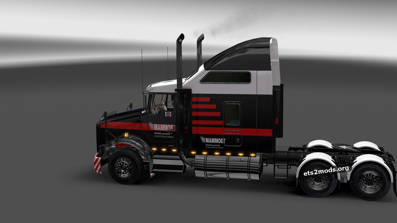 "ETS2 ""Mammoet skin for Kenworth T800"" - Файлы - патч, демо ..."