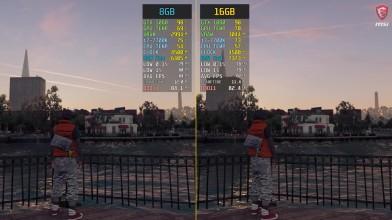 Сравнение частоты кадров - Watch Dogs 2: 8GB ОЗУ vs. 16GB (wolfgang)