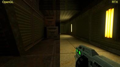 Quake 2 RTX сравнения графики OpenGL|RTX на базе GTX 1080