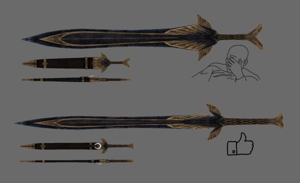 Skyrim мод на Оружие из Драконьей Кости