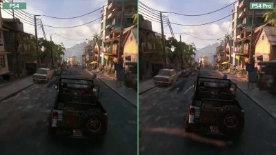 4K UHD - Uncharted 4 - PS4 vs. PS4 Pro 4K Mode Graphics Comparison