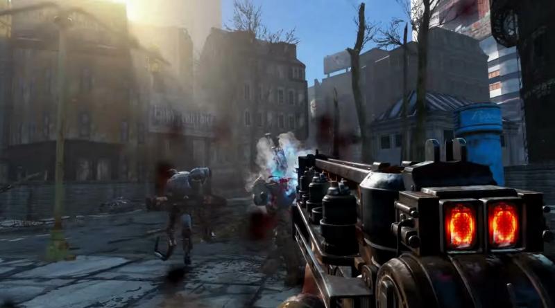 Карабин Гаусса в игре Fallout с газоразрядными индикаторами типа ИН-12