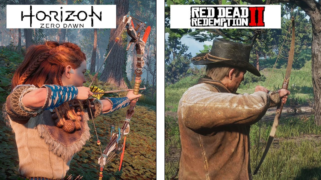 Графику Red Dead Redemption 2 сравнили с графикой Horizon Zero Dawn
