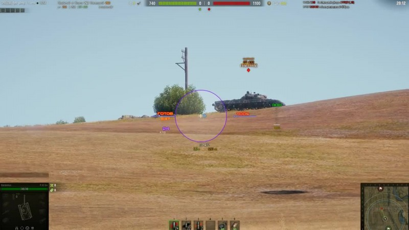 World of Tanks - Стрельба по бегущей цели: от