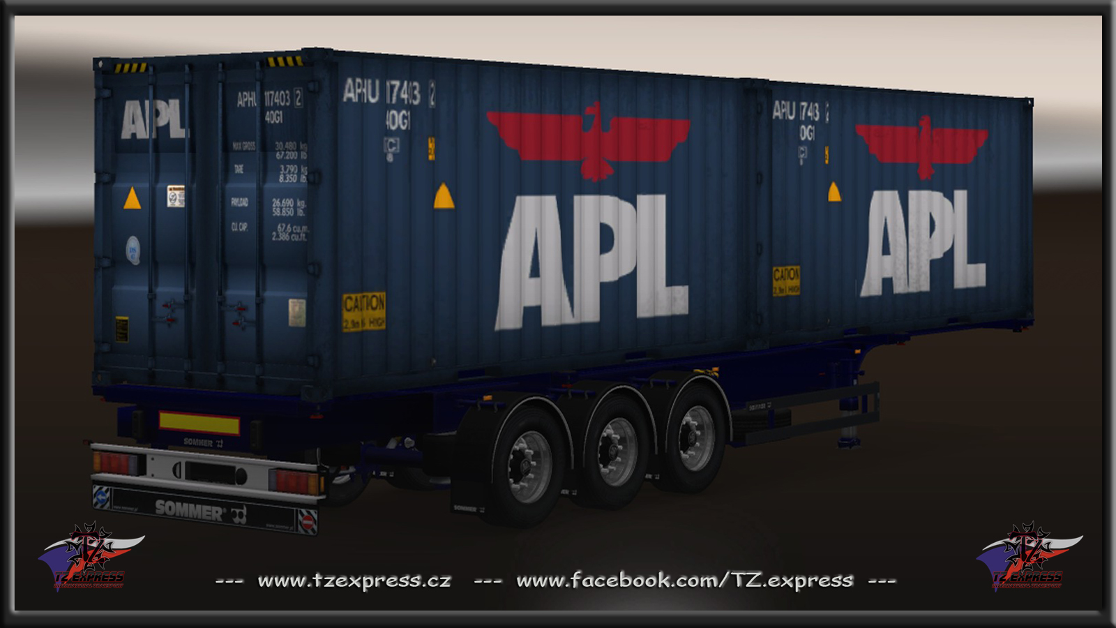Ets 2 tz trailers еxpress pack for v1 18 1