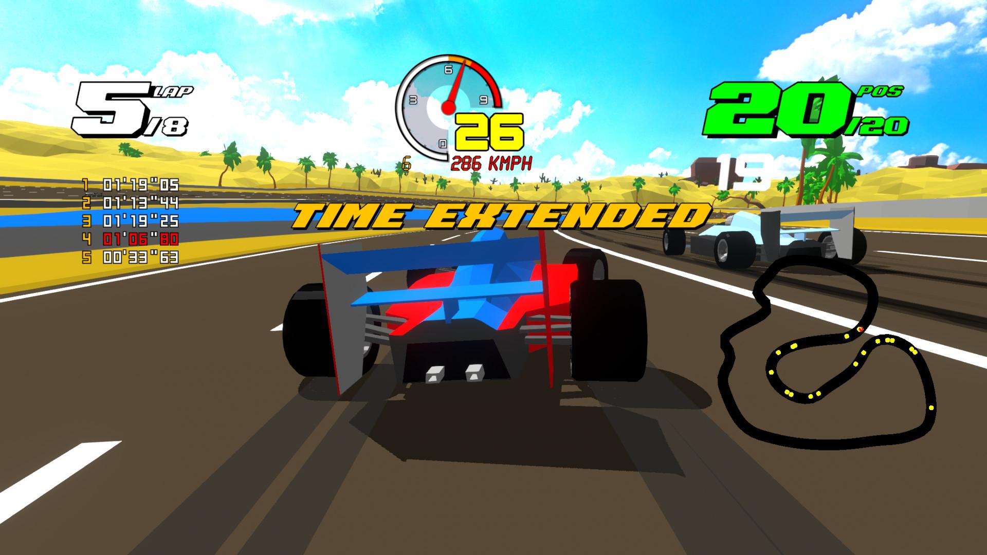 Formula Retro Racing - гоночная игра в ретро стилистике, похожая на Virtua Racing от SEGA