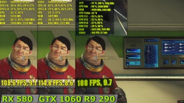 RX 580 vs GTX 1060 vs R9 290 - Prey