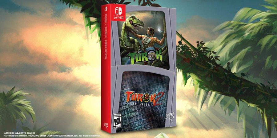 На Nintendo Switch анонсированы физические изданияTurok 1 и 2
