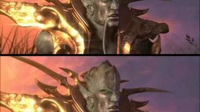 Warcraft 3 - Сравнение улучшенного ролика концовки нежити и оригинала