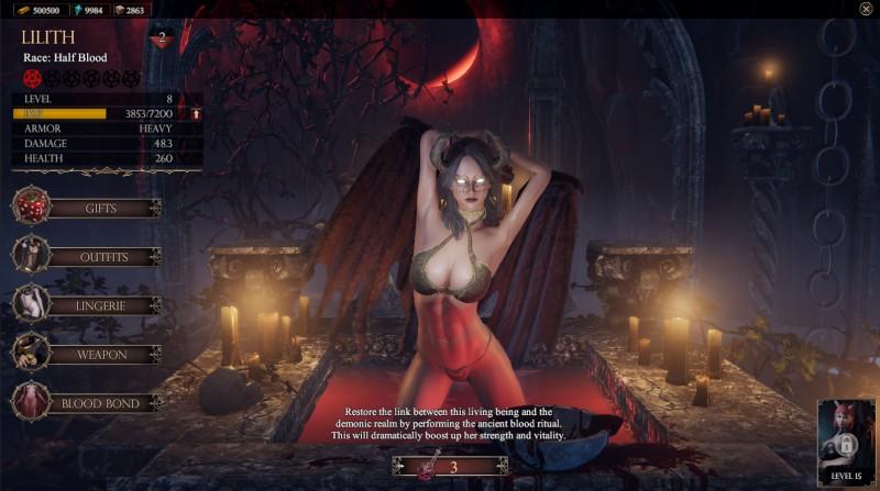 В новом обновлении She Will Punish Them у главной героини появятся суккубы-компаньоны