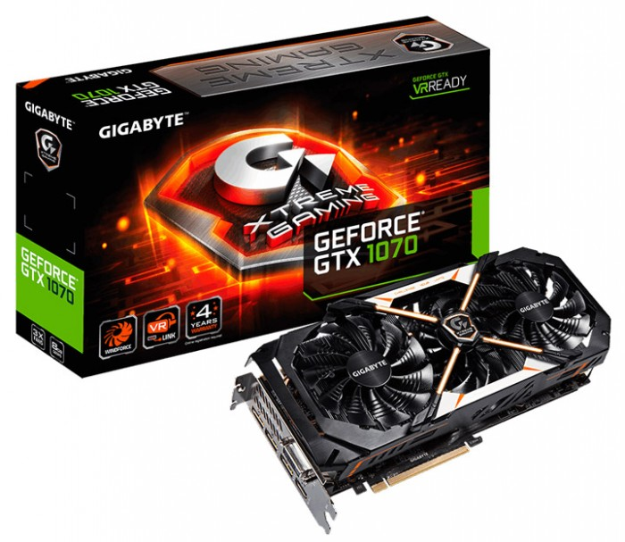 Видеокарта Gigabyte GeForce GTX 1070 Xtreme Gaming