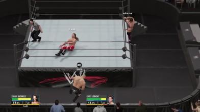 "WWE 2K16 ""Показательная ""порка"" - HBK VS Brock Lesnar VS Chris Jericho"""