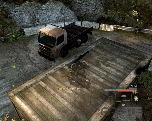 Гранатомет на крыше контейнера