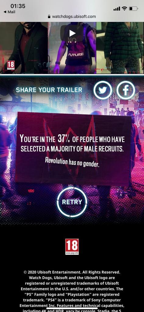 Ubisoft пытается пристыдить игроков, собирающих команды из мужчин революционеров в Watch Dogs: Legion