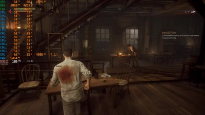 Vampyr i7 8700K 4600Mhz GTX 1070 Maxed Out Ultra Benchmark FPS TEST