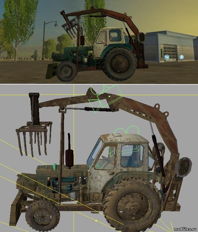 Farming Simulator 2015 мод трактор ЮМЗ-6Л Грейфер v2.0