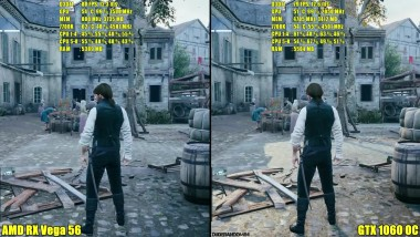 Assassin's Creed Unity AMD RX Vega 56 Stock Vs GTX 1060 OC Сравнение частоты кадров